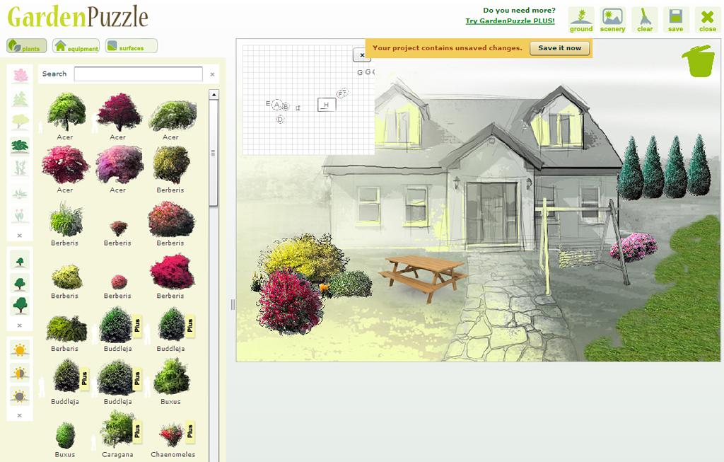 Gardenpuzzle redessiner votre jardin en ligne slydnet for Dessiner son jardin paysager