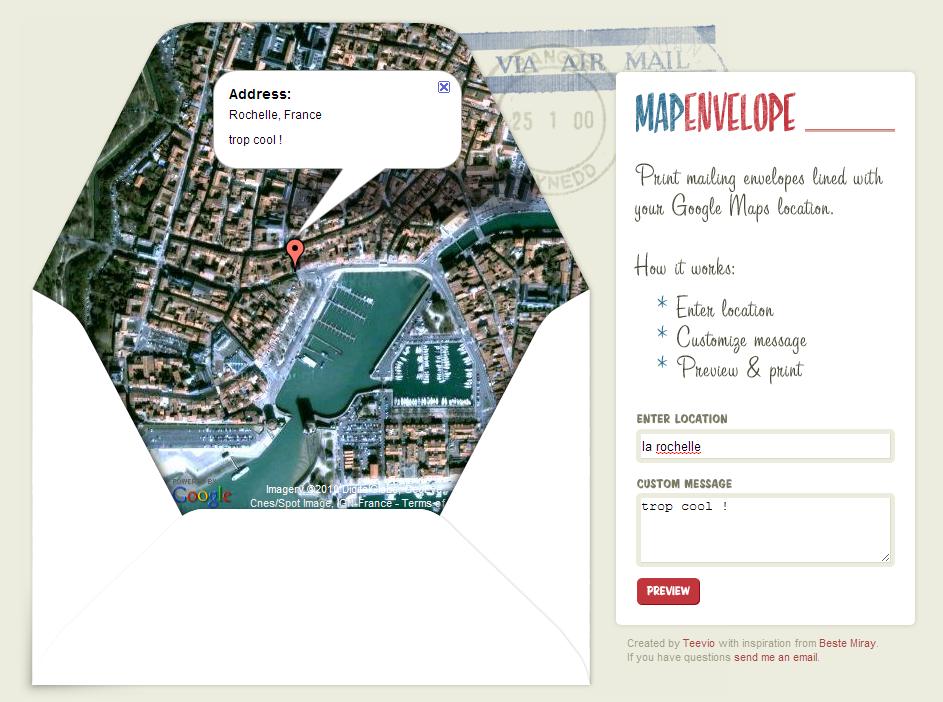 Mapenvelope cr er vos propres enveloppes postales - Creer une enveloppe ...