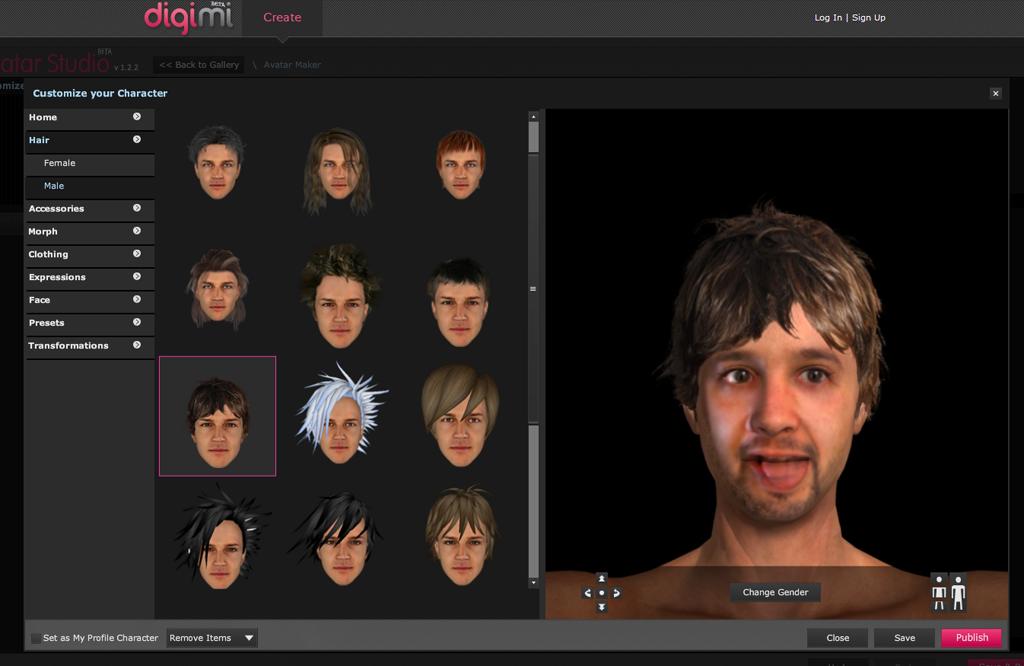 Digimi cr er votre propre avatar 3d slydnet - Faire son salon en 3d ...