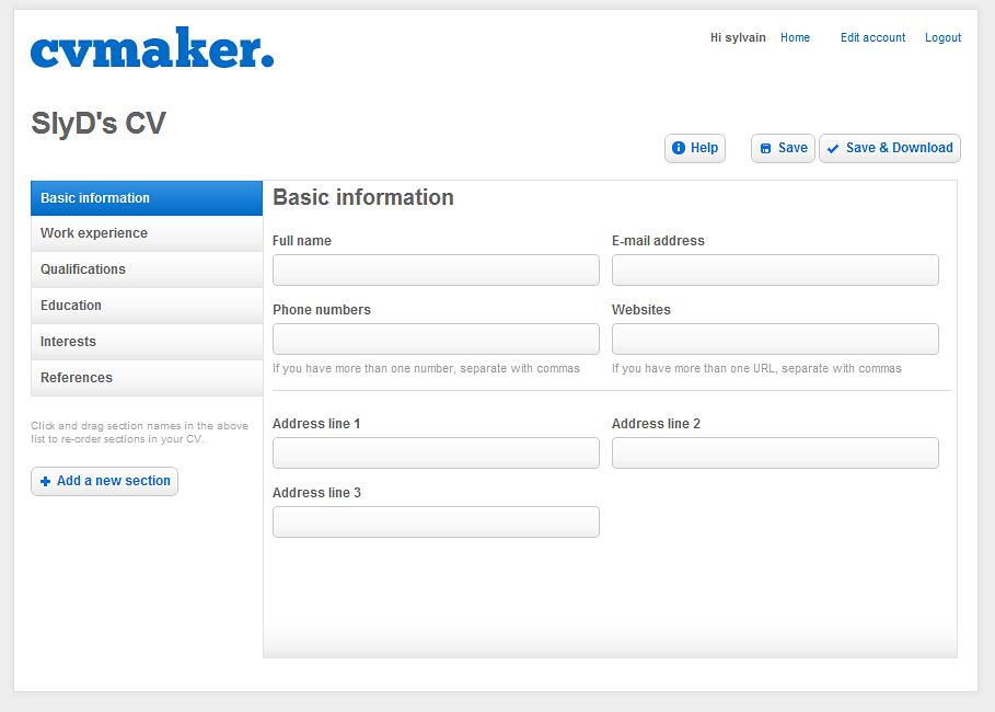 cvmaker - cr u00e9er votre cv en ligne gratuitement