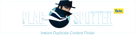 PlagSpotter - Online Duplicate Content Checker