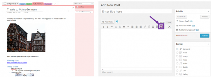 OneNote for WordPress